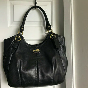 Coach Madison Abigail Black Leather Bag